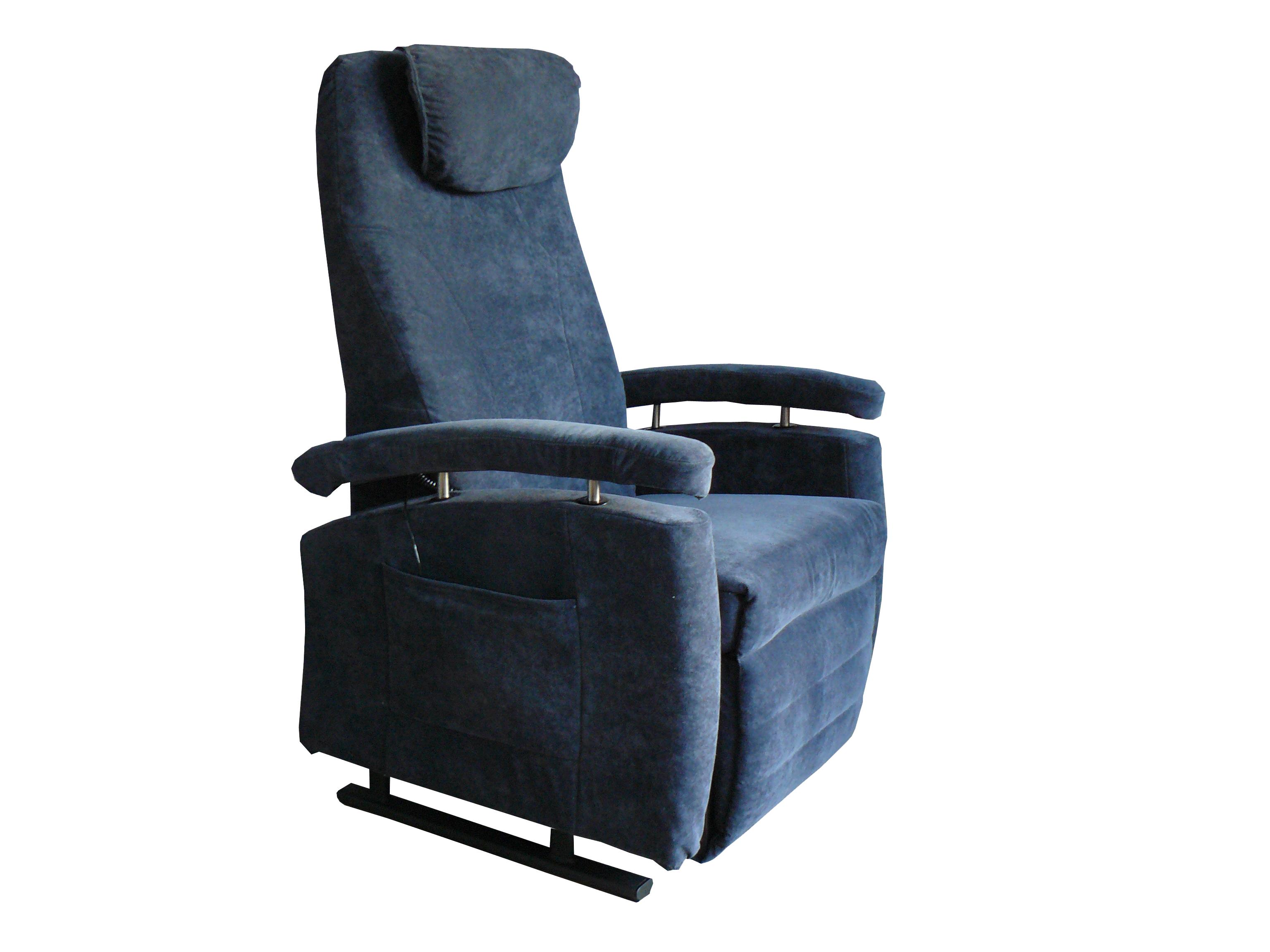 Sta-op stoel vario 570, blauw stof