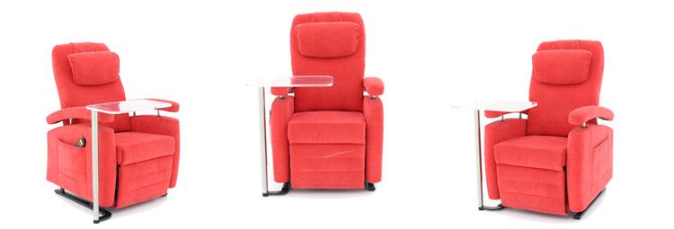 huur sta-op stoel met draaischijf