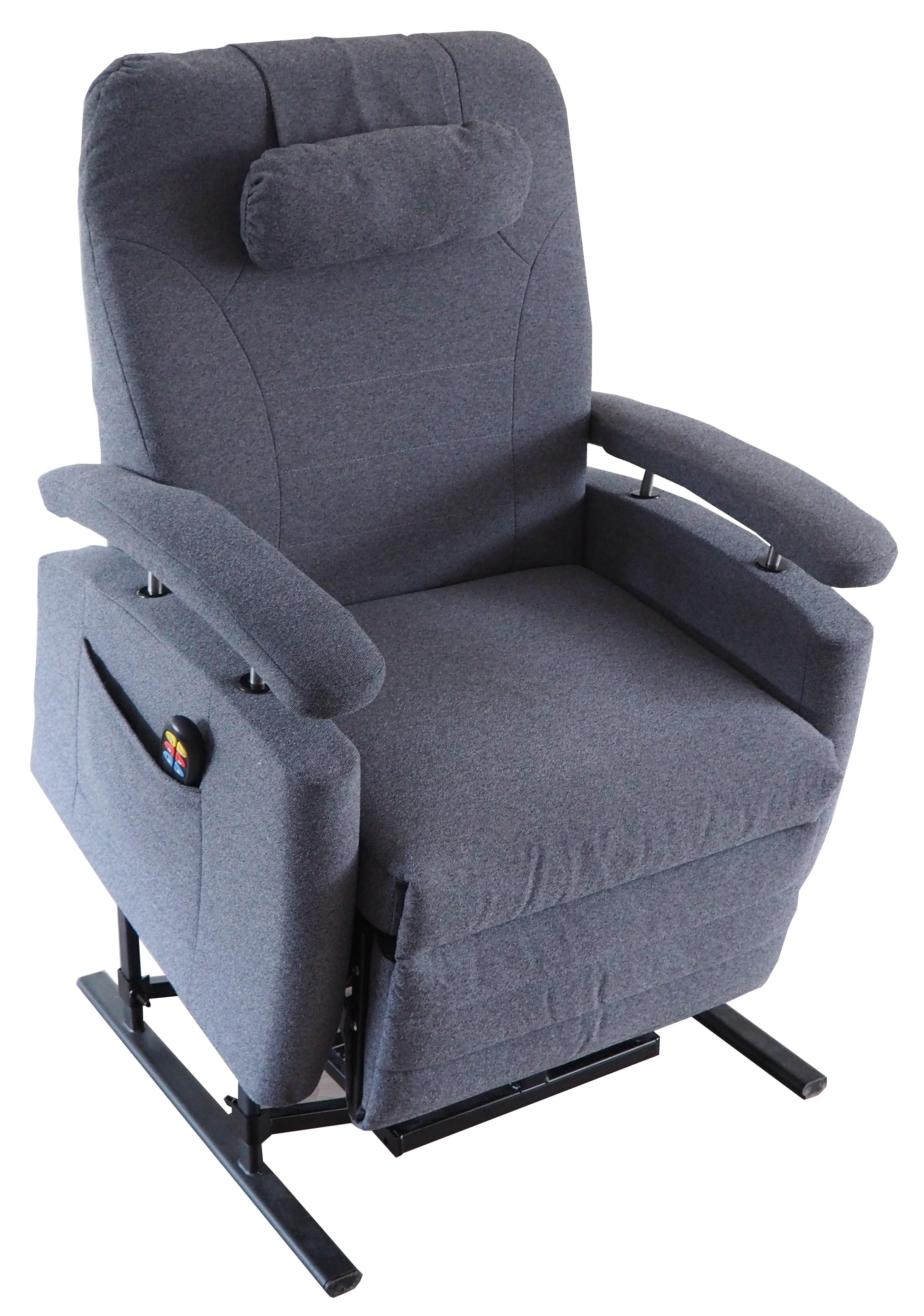 #175 XXL Sta-op stoel vario 570, 63cm breed, grijs € 80,- p/m