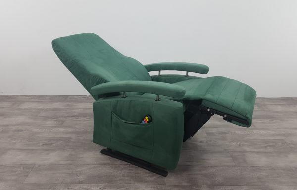 Sta-op stoel vario 570, groen suede kunstleer