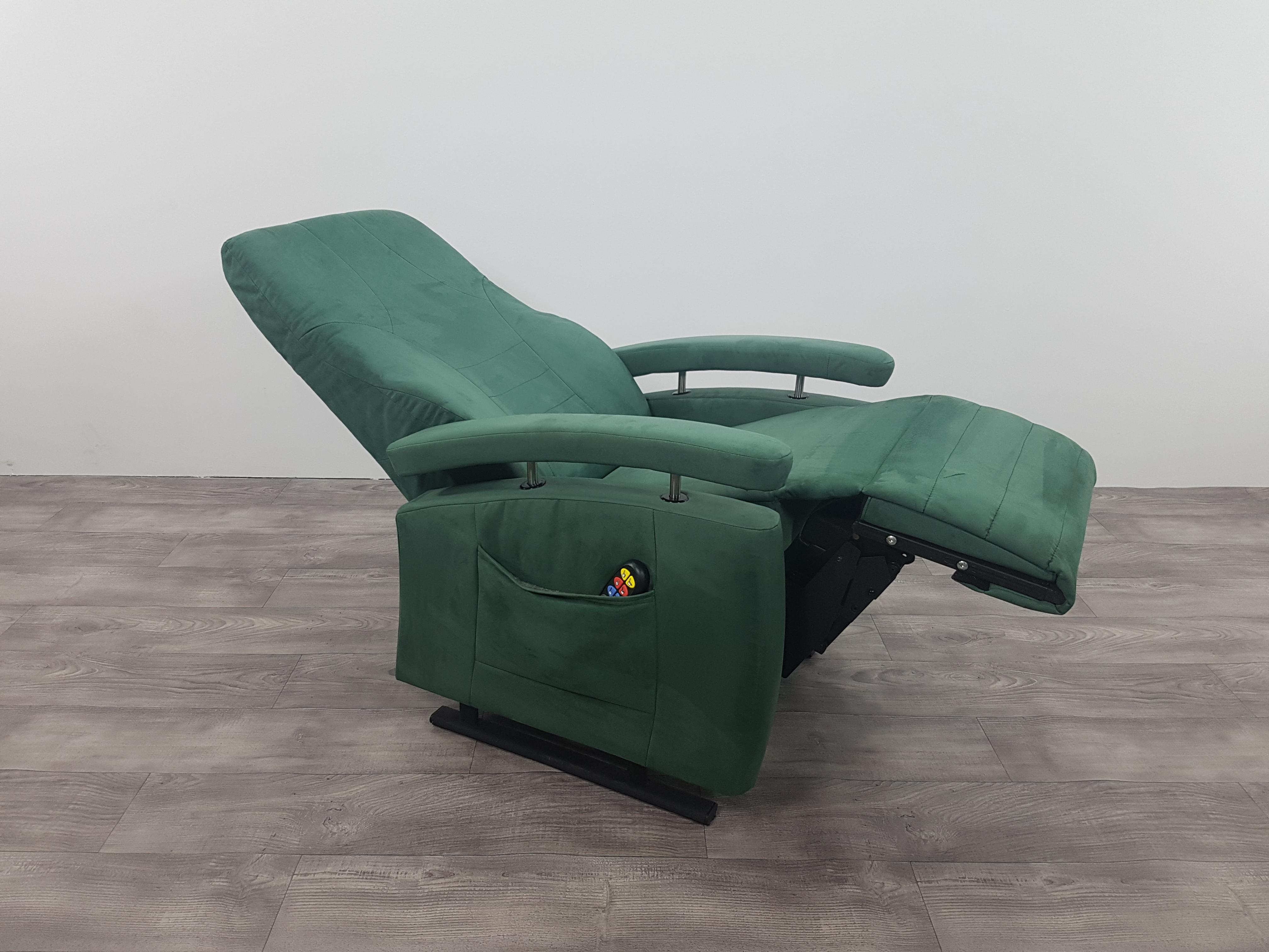 Sta Zit Stoel : Sta op stoel vario groen suede kunstleer zeker zit sta op