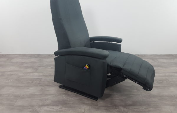 Sta-op stoel vario 570, niroxx suede kunstleer grijs