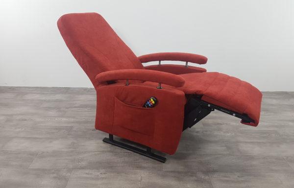 Sta-op stoel vario 570, rood stof