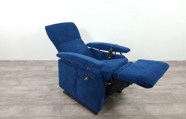 Sta-op stoel vario 574 -mini, blauw stof met verwarming (2013)