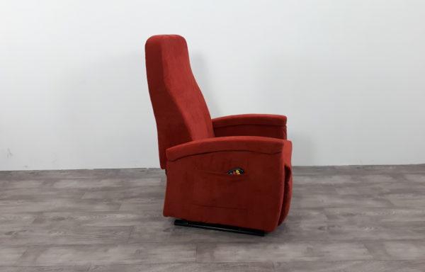 Sta-op stoel vario 570, rood. Extra diepe zitting mogelijk!