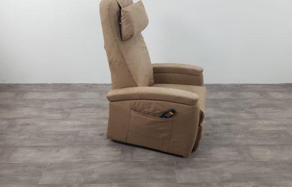 Sta-op stoel vario 570 – 45cm smal, suede kunstleer bruin(2015)