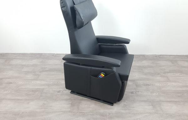 Sta-op stoel vario model 574 – 45cm smal – zwart leder