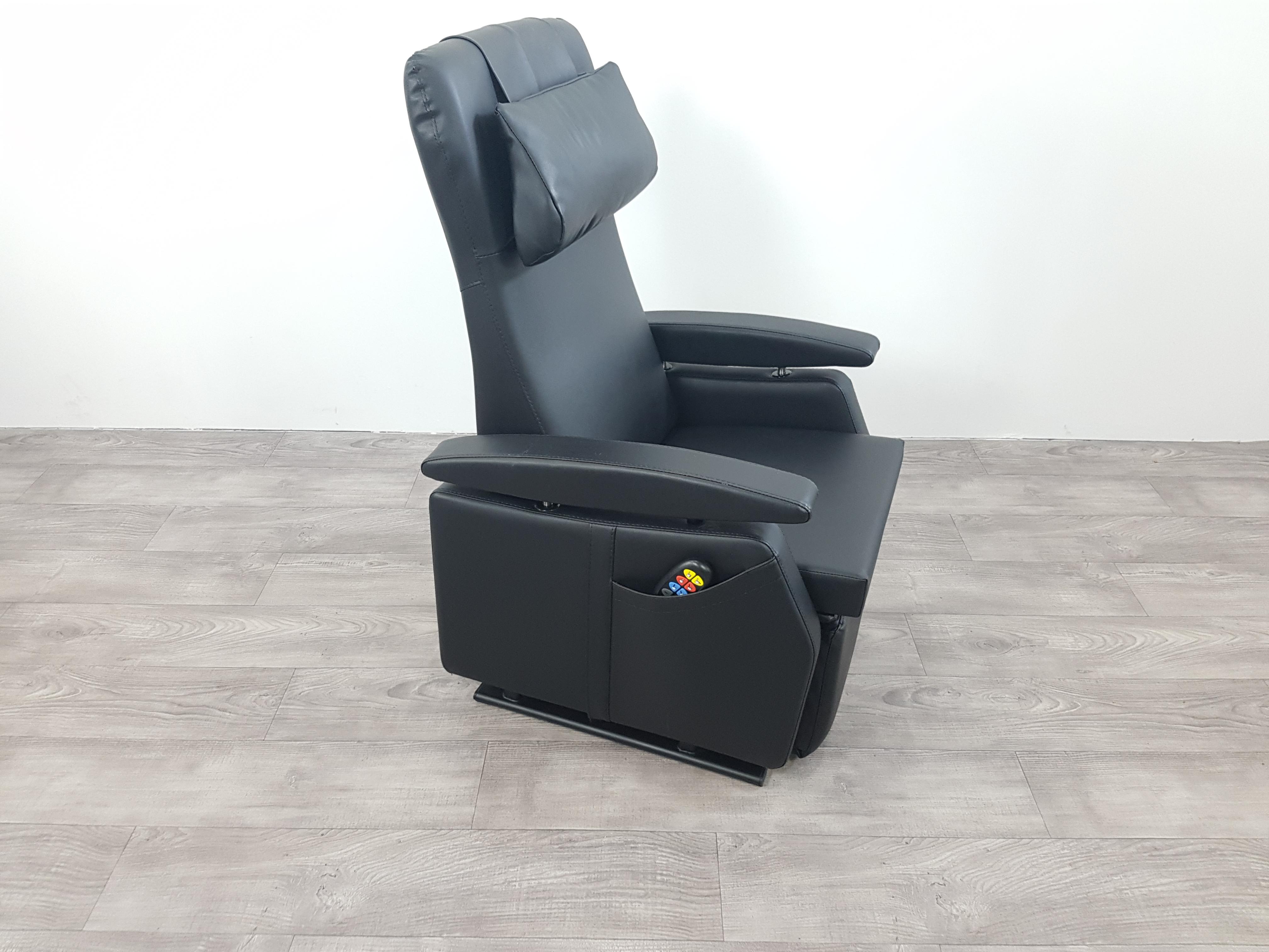 Sta Zit Stoel : Sta op stoel vario model cm smal zwart leder zeker zit