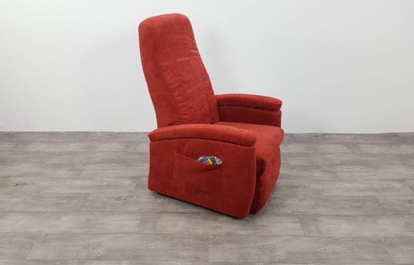 Sta-op stoel vario 570, rood. NIEUWE bekleding