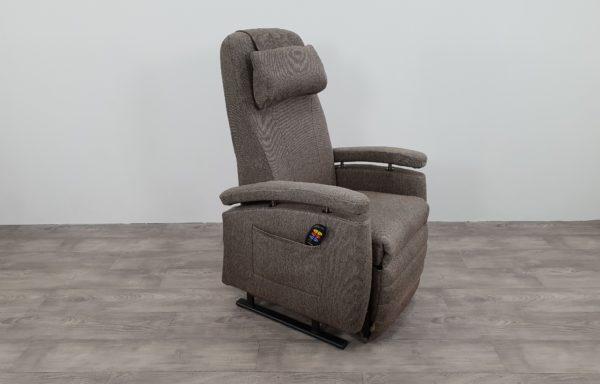 #469 Sta-op stoel vario 570, bruin tinten patroon.