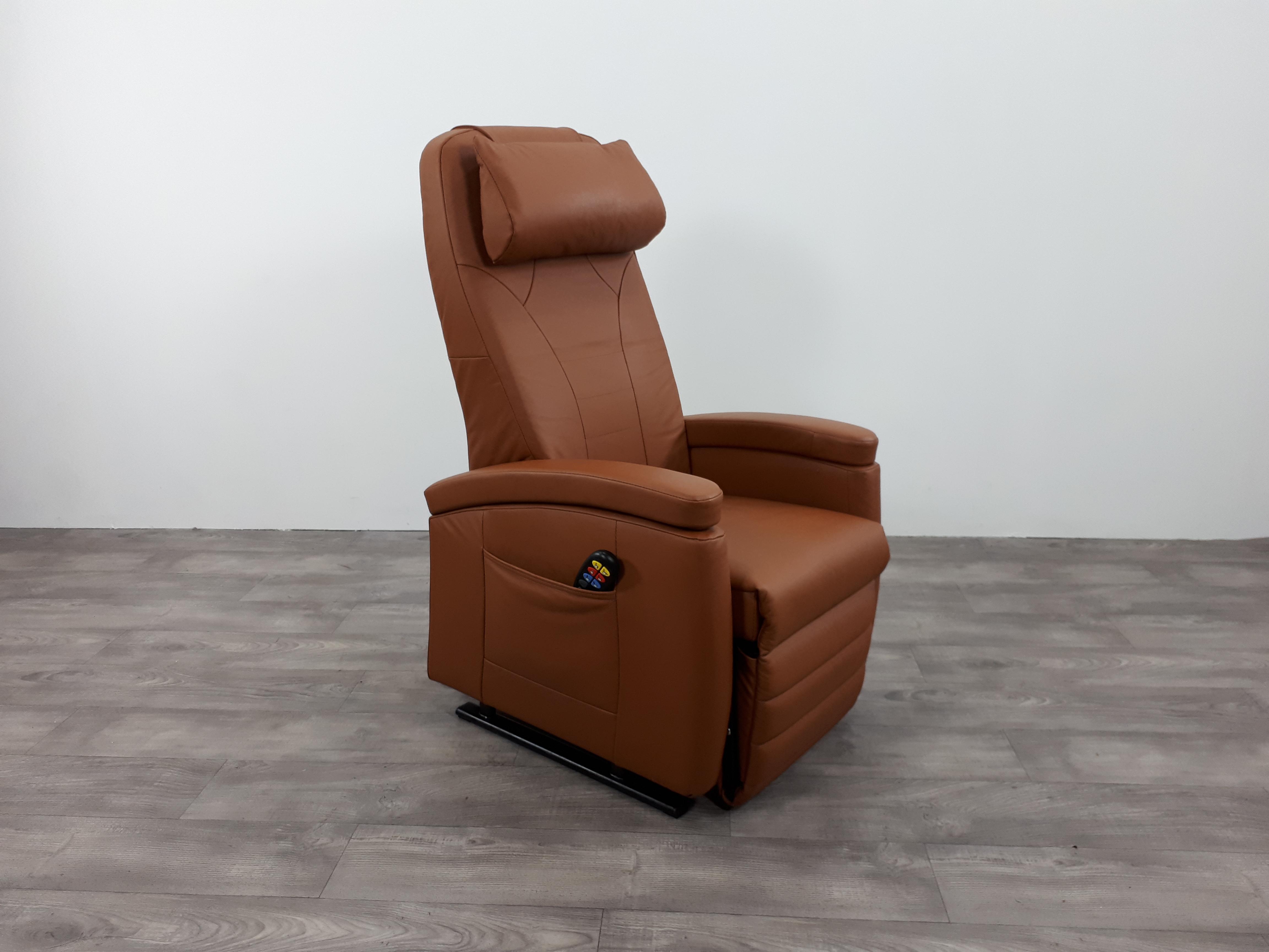 Sta op stoel leer cognac smal stoel uit zeker