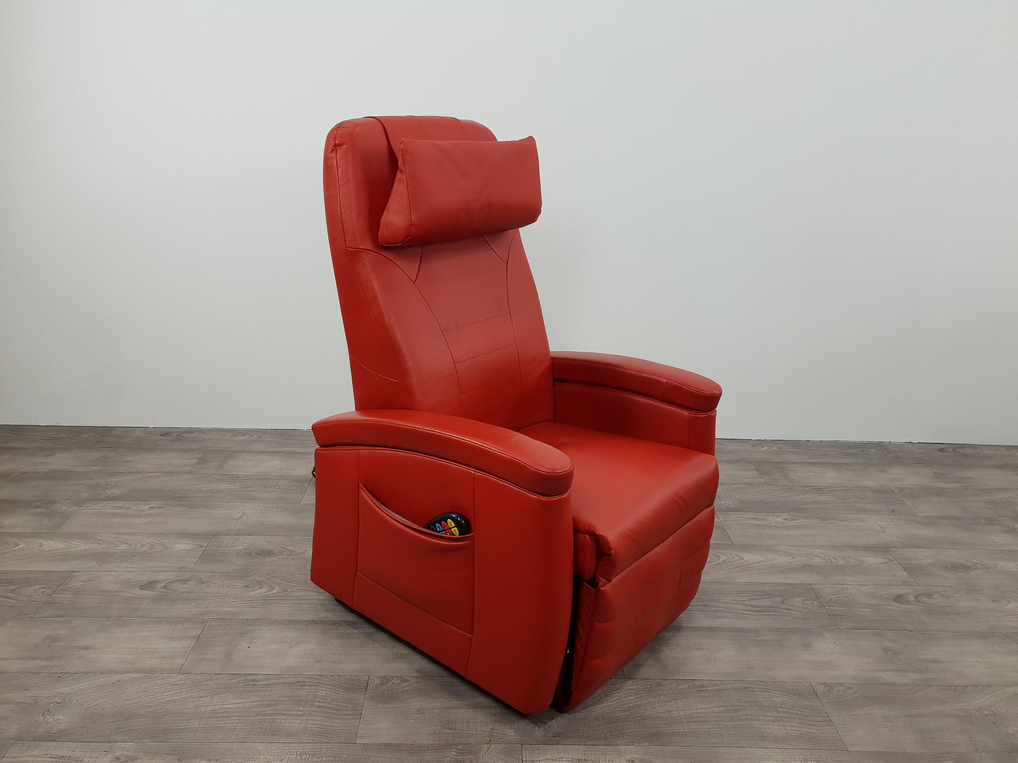 Sta Zit Stoel : Sta op stoel rood leer met draaischijf zeker zit