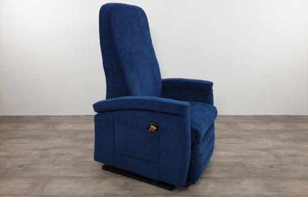 Sta-op stoel vario 570, koningsblauw. Ex-huur stoel met NIEUWE bekleding