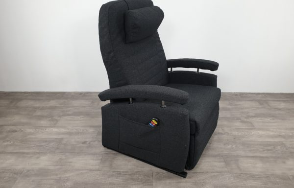 #545 XXL Sta-op stoel vario 570, 63cm breed. antraciet. 2014