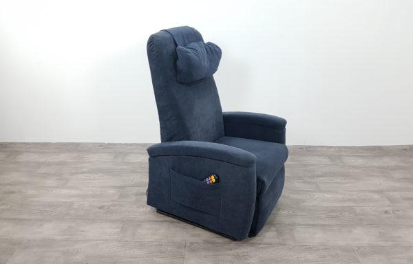 #350- Sta-op stoel 570, 51cm blauw lage rug. € 45,- per maand.