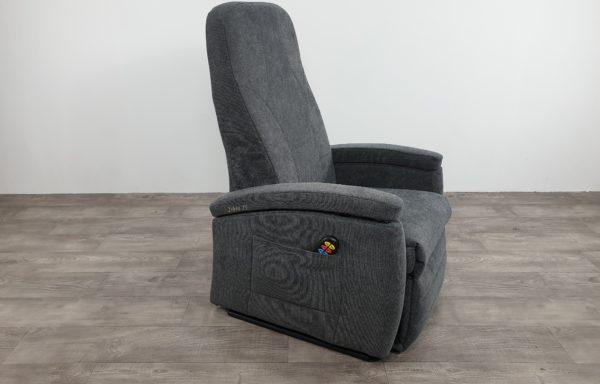 #619 Sta-op stoel vario 570 uit 2016, nieuwe bekleding grijs