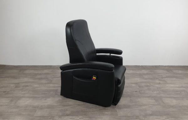 Sta-op stoel vario 571 – zwart leder als nieuw!