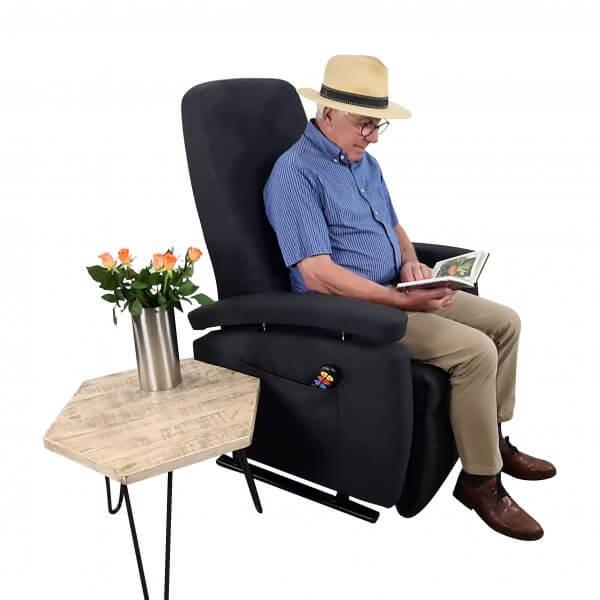 zitten sta-op stoel antraciet