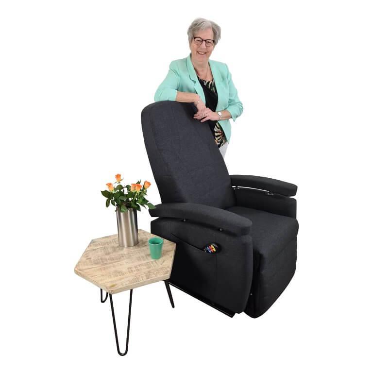 antraciet sta-op stoel